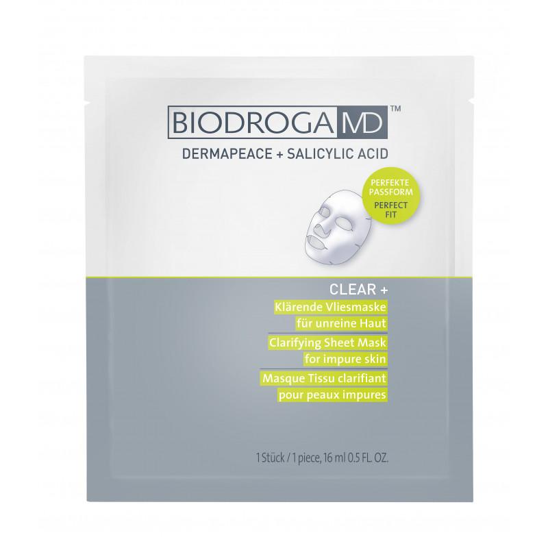 CLEAR+ Pročišťující vlízová maska 5 x 16 ml